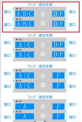 高铁动车座位图