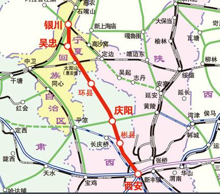 银西高铁路线图