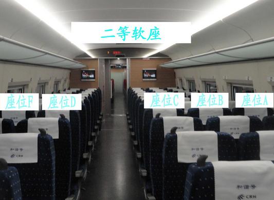 动车高铁座位分布图图片