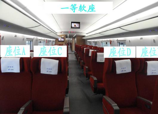 高铁车厢座位分布图