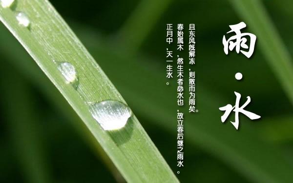 24节气雨水的含义