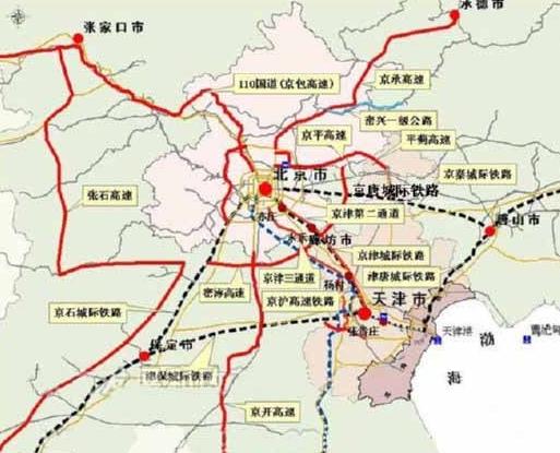 唐山地铁规划图-京唐城际铁路规划图