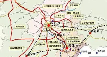 京滨城际高铁规划图