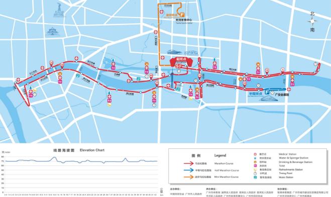 016年12月广州马拉松路线图图片