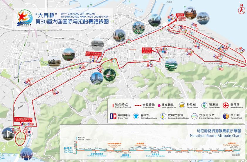 2017年5月大连马拉松路线图图片