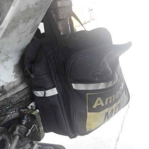 航班落地發現起落架掛包