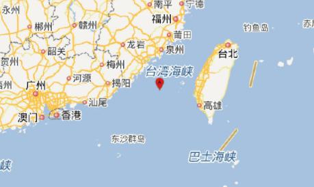 11月26日台湾海峡地震泉州厦门有震感1